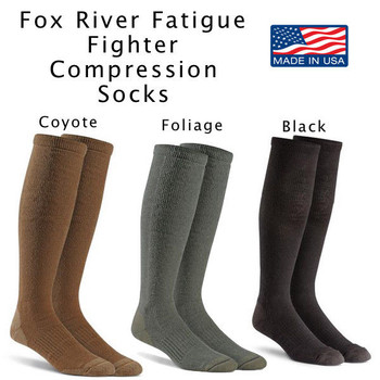 Fox River Military FATIGUE FIGHTER Compression Boot Sock FoxSox US MADE NEW 6036