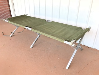 Genuine Military Issue Folding Cot Tri-Fold USA Made VG used
