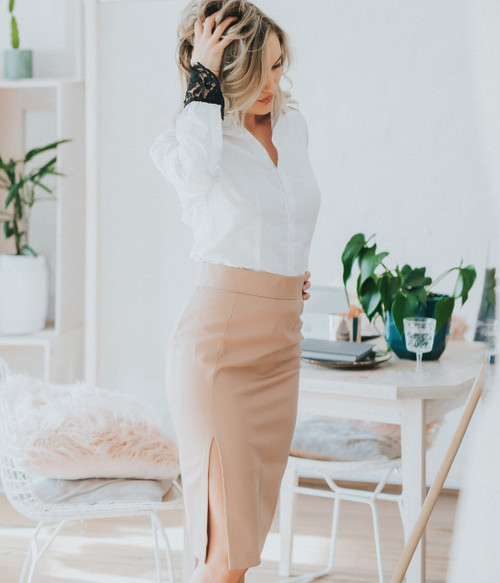 Piccolo Pleather Pencil Skirt