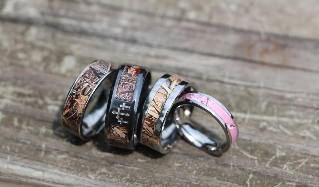 camo wedding rings photo