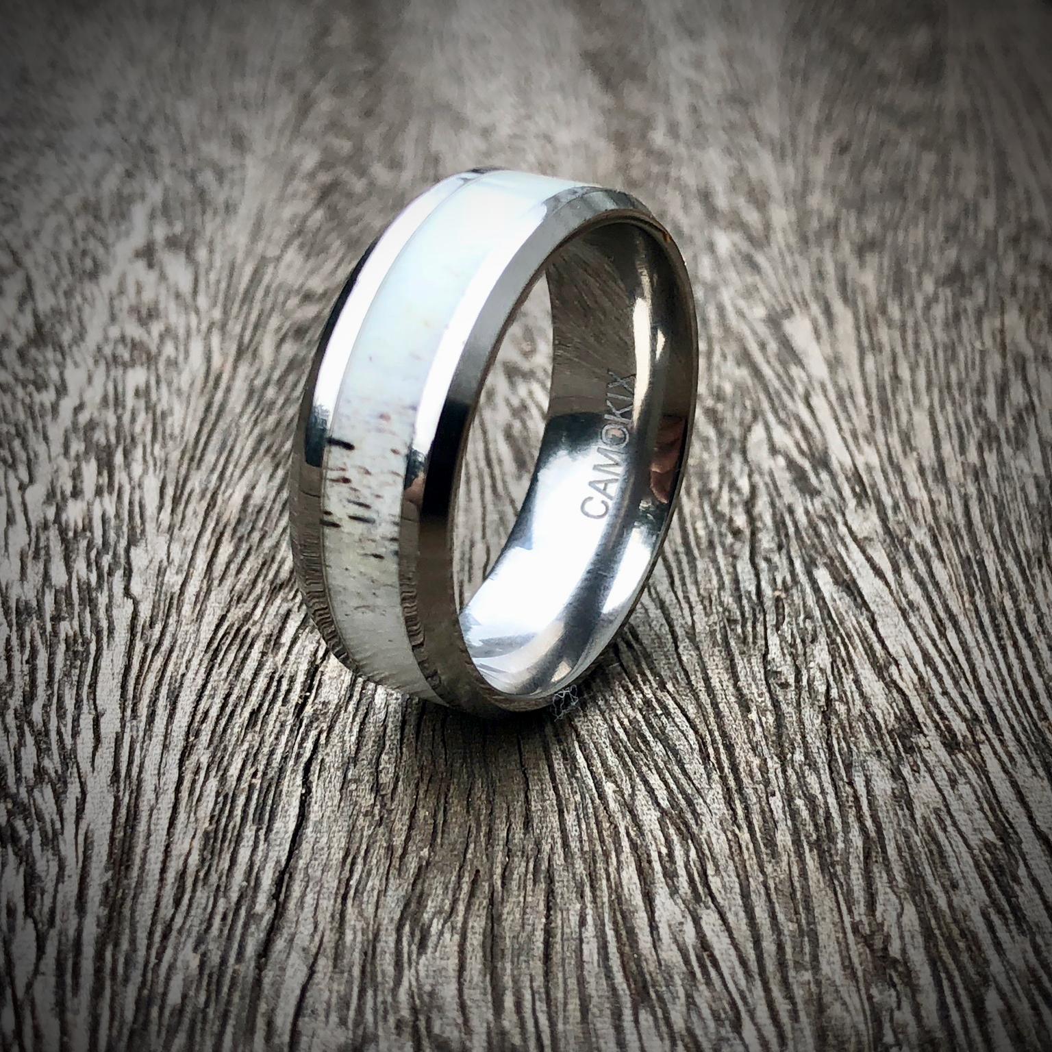 antler ring for men