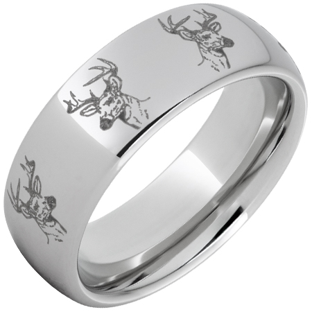 domed deer head ring