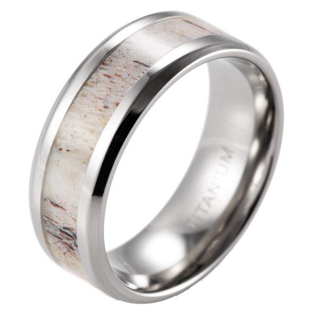 men's antler ring