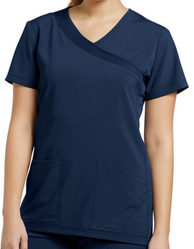 White Cross fit - Scrub top
