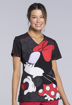 Clearance Tooniforms Minnie and Mickey Mouse Printed Top