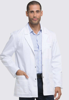 81403 - White Men Short Lab Coat