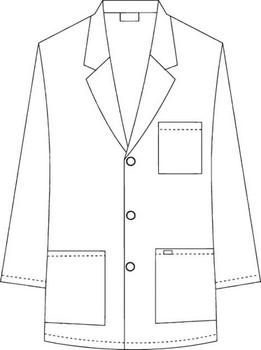 Half Length Unisex Lab Coat Raw