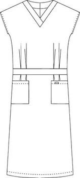 Scrub Depot - Mobb Pricess Dress Front Raw