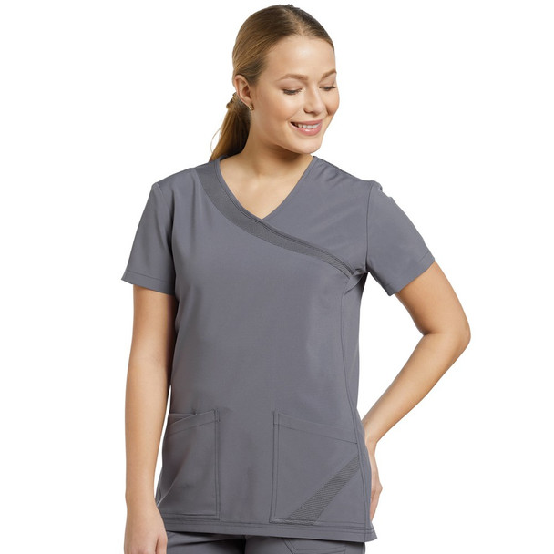 White Cross Fit Solid Scrub Top (748)