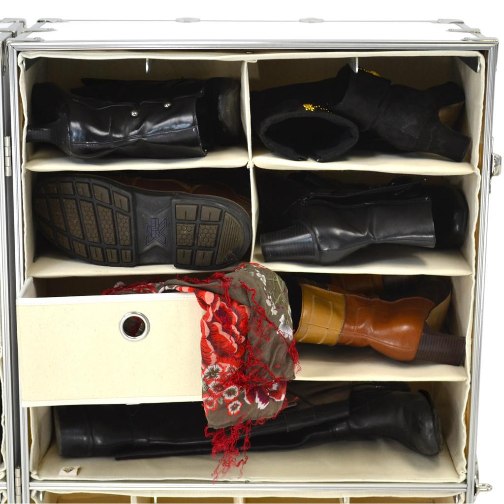 Rhino Urban Wardrobe four shelf inside view with shoes