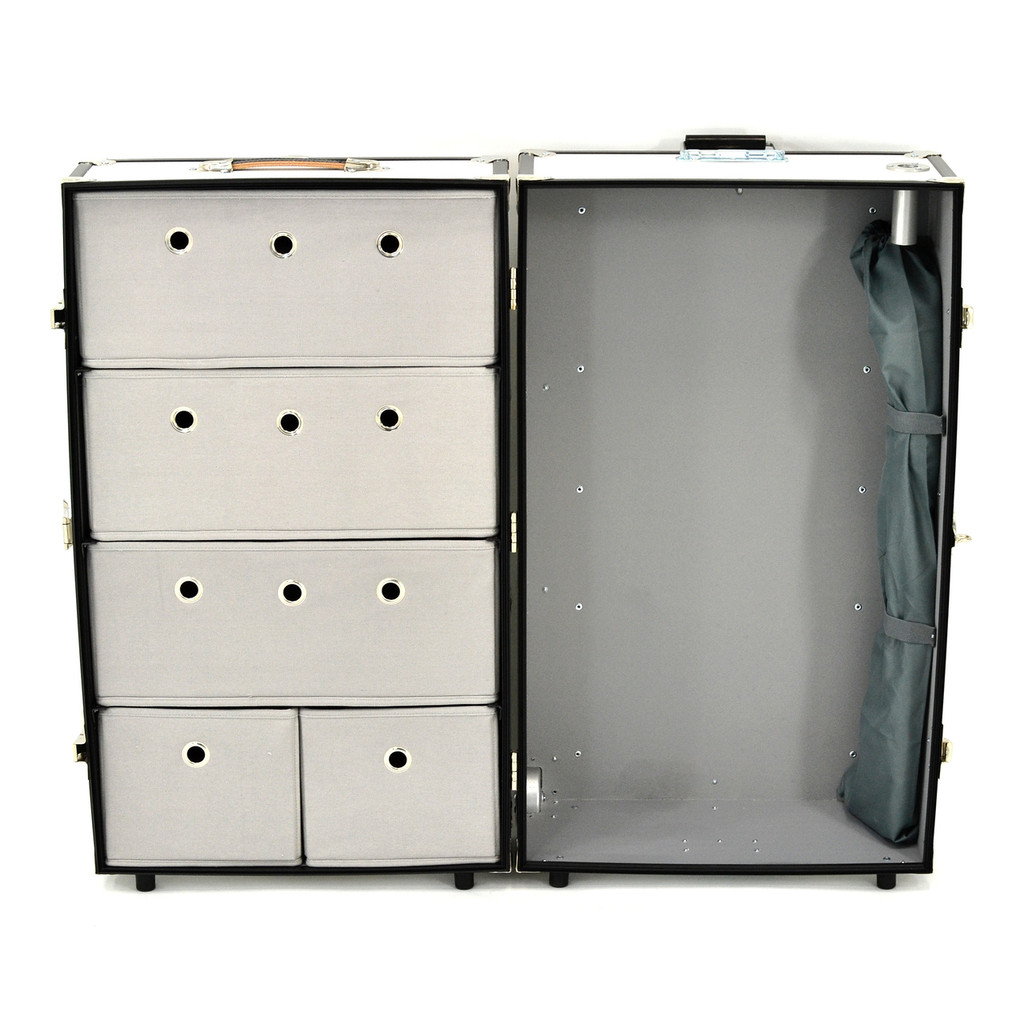 Rhino Dance Star Wardrobe Trunk open front.