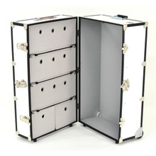 Rhino Dance Star Wardrobe Trunk open angles.