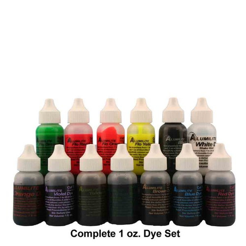 ALUMILITE DYES 1 OZ (single choices)