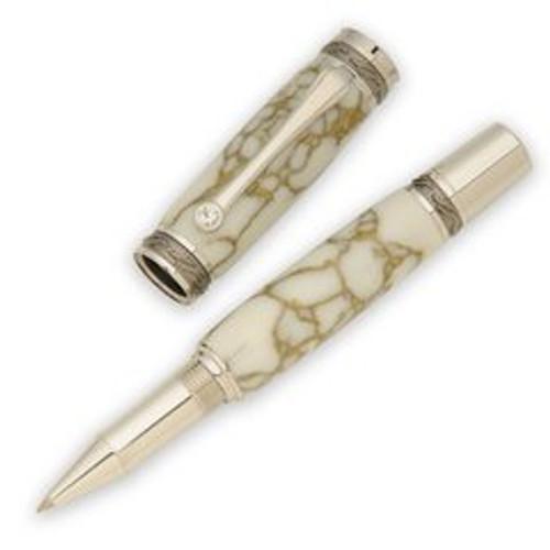 PKMAJTP Majestic Black TN/Rhodium Rollerball Pen Kit