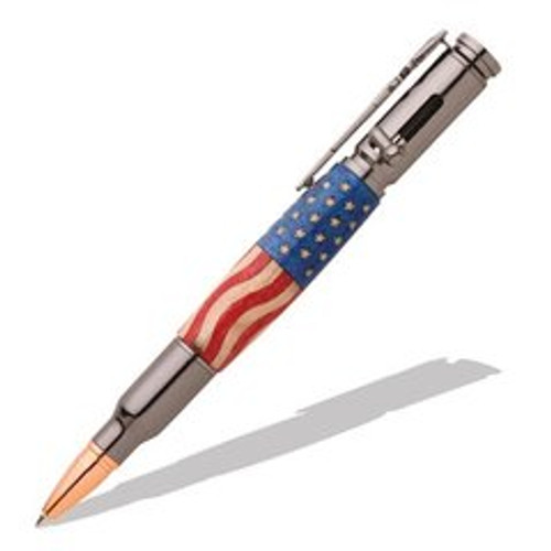 PKCP8020 30 Caliber Bolt Action Gun Metal Bullet Cartridge Pen Kit