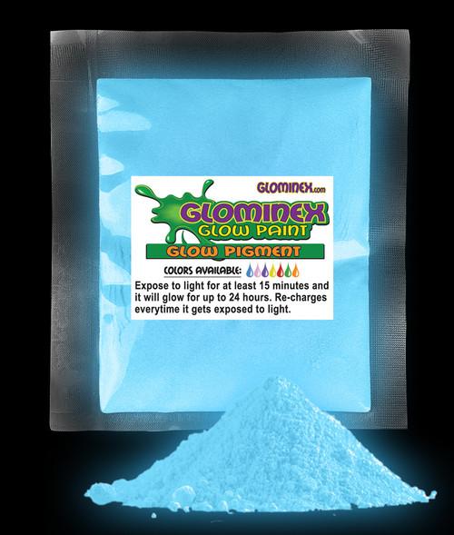 GLOMINEX BLUE GLOW PIGMENT 1 oz
