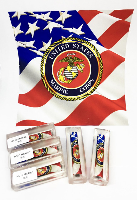 MC10 OFFICIAL LICENSED US MARINES CORP FLAG PEN BLANK