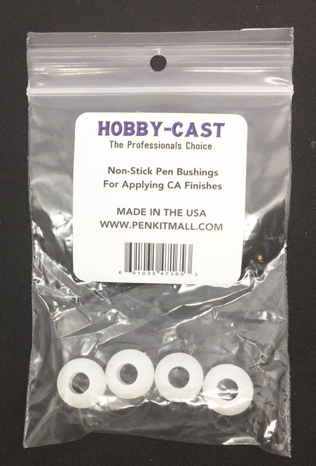 HOBBY-CAST  Non-Stick Bushings FOR CA FINISHES (4 PK)
