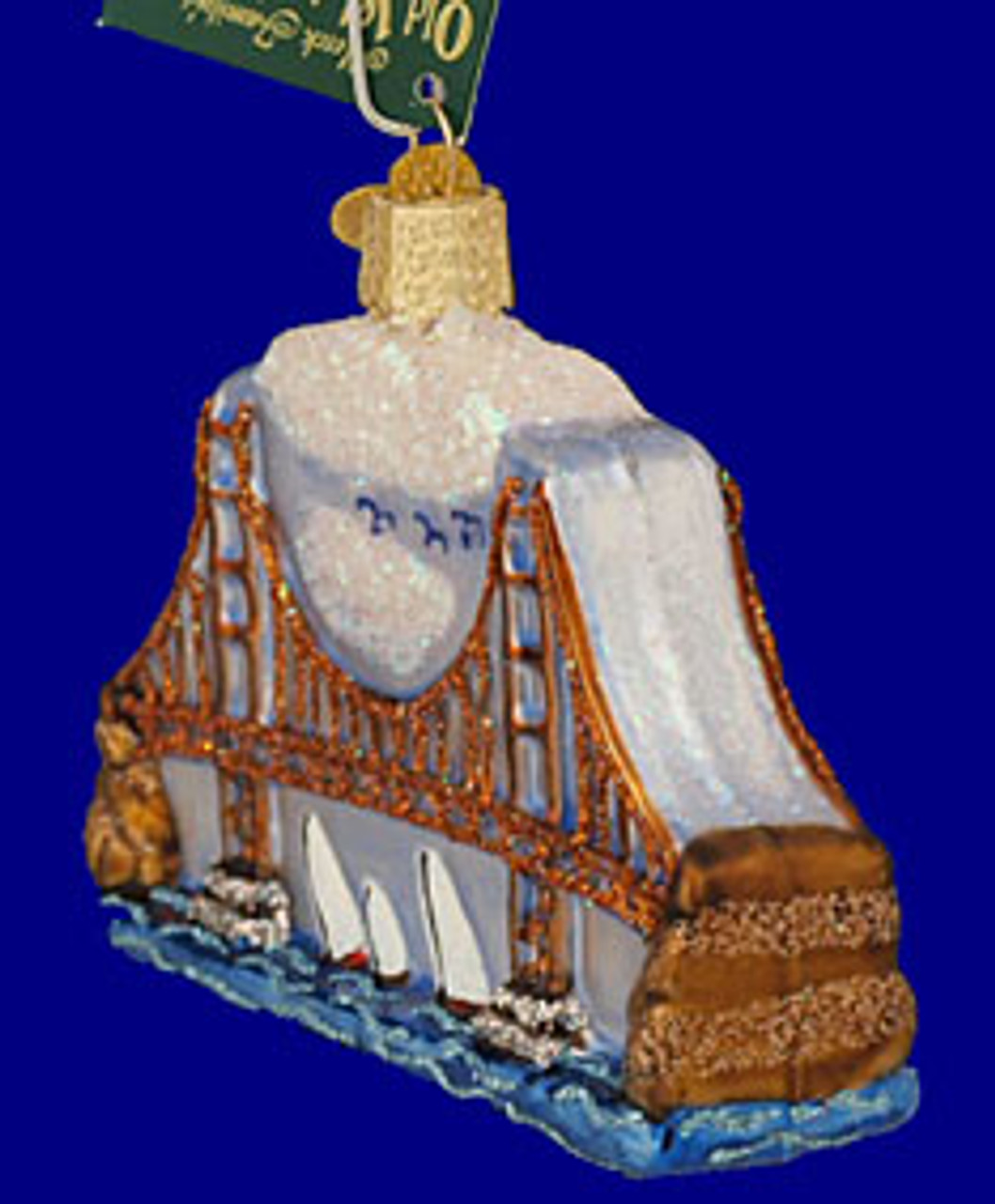 Golden Gate Bridge Glass Ornament By Old World Christmas