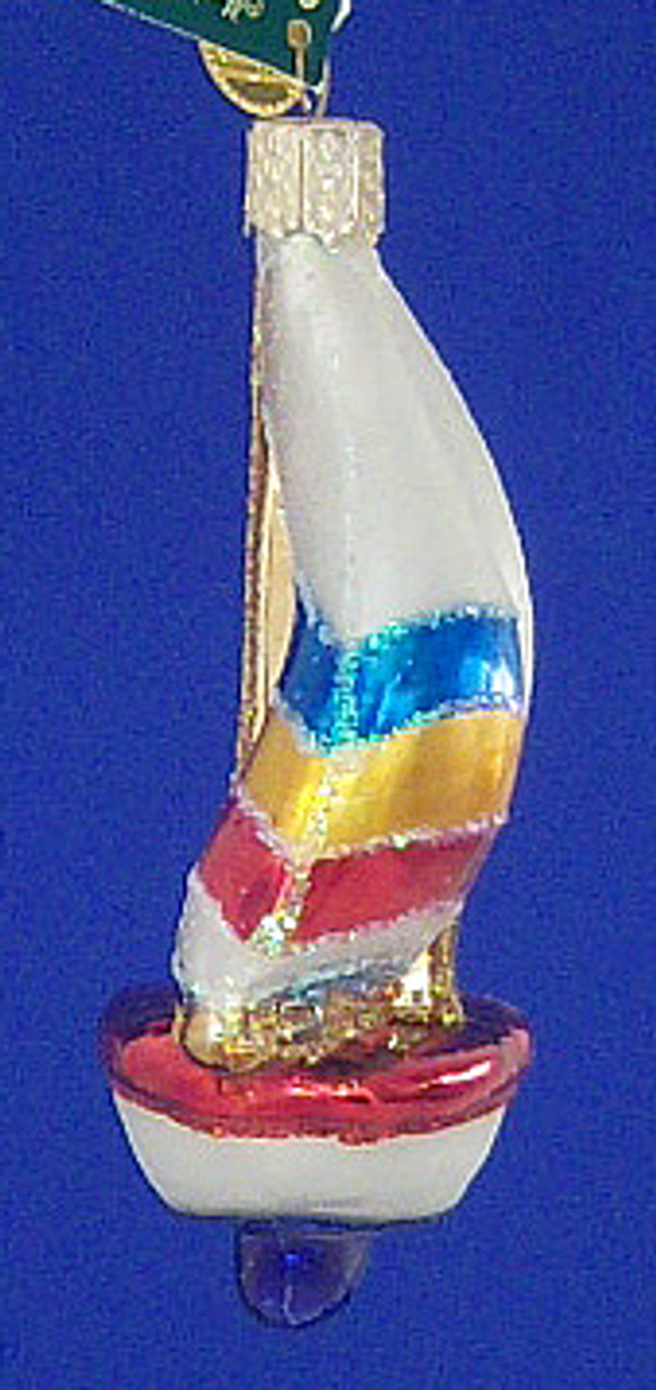 Sailboat Glass Ornament by Old World Christmas