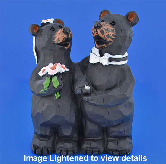 "Black Bear Bride and Groom Figurine Wedding Gift, 4"", #SSX8609"