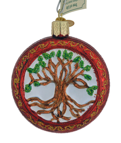 Tree Of Life Glass Ornament 36233 Old World Christmas
