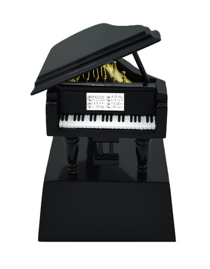 Mini Black Grand Piano on Stand Gift Decor or Trophy