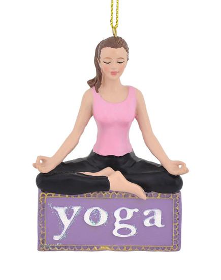 Young Female Yoga Ornament c7977