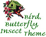 Birds, Insects, Garden Theme Icon