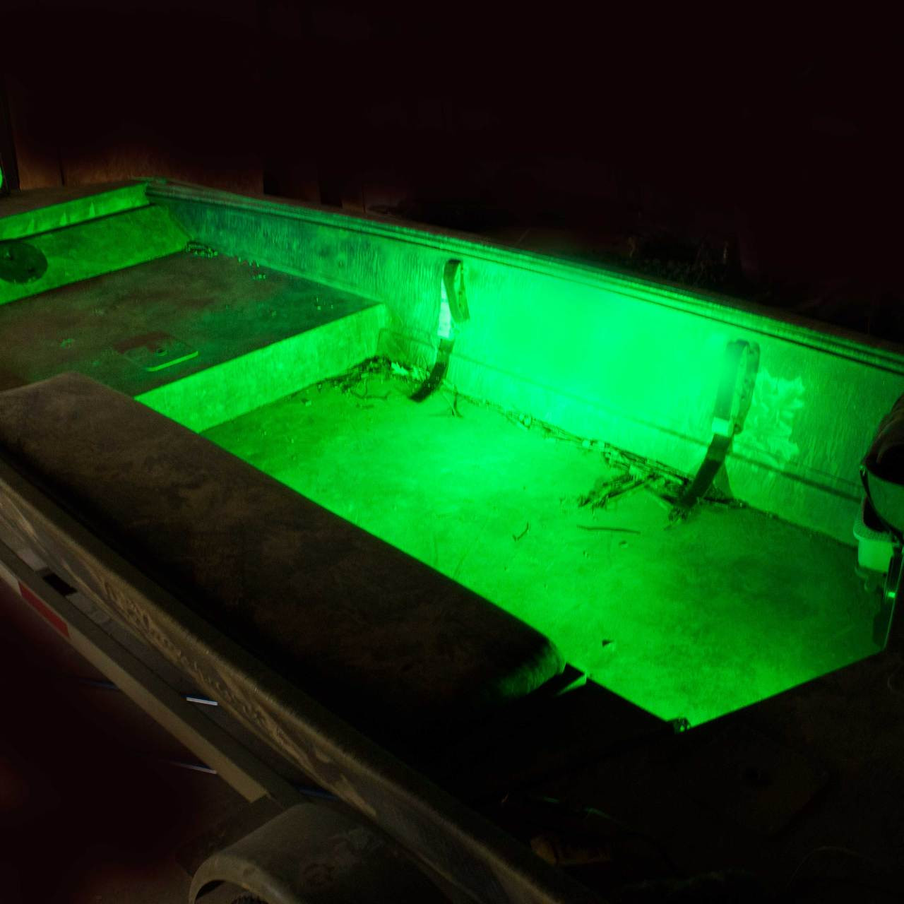 KICK Lights XL colored(SOLD AS A PAIR) & Duck Boat Interior tough LED lights Kick lightsno strip Southern ...