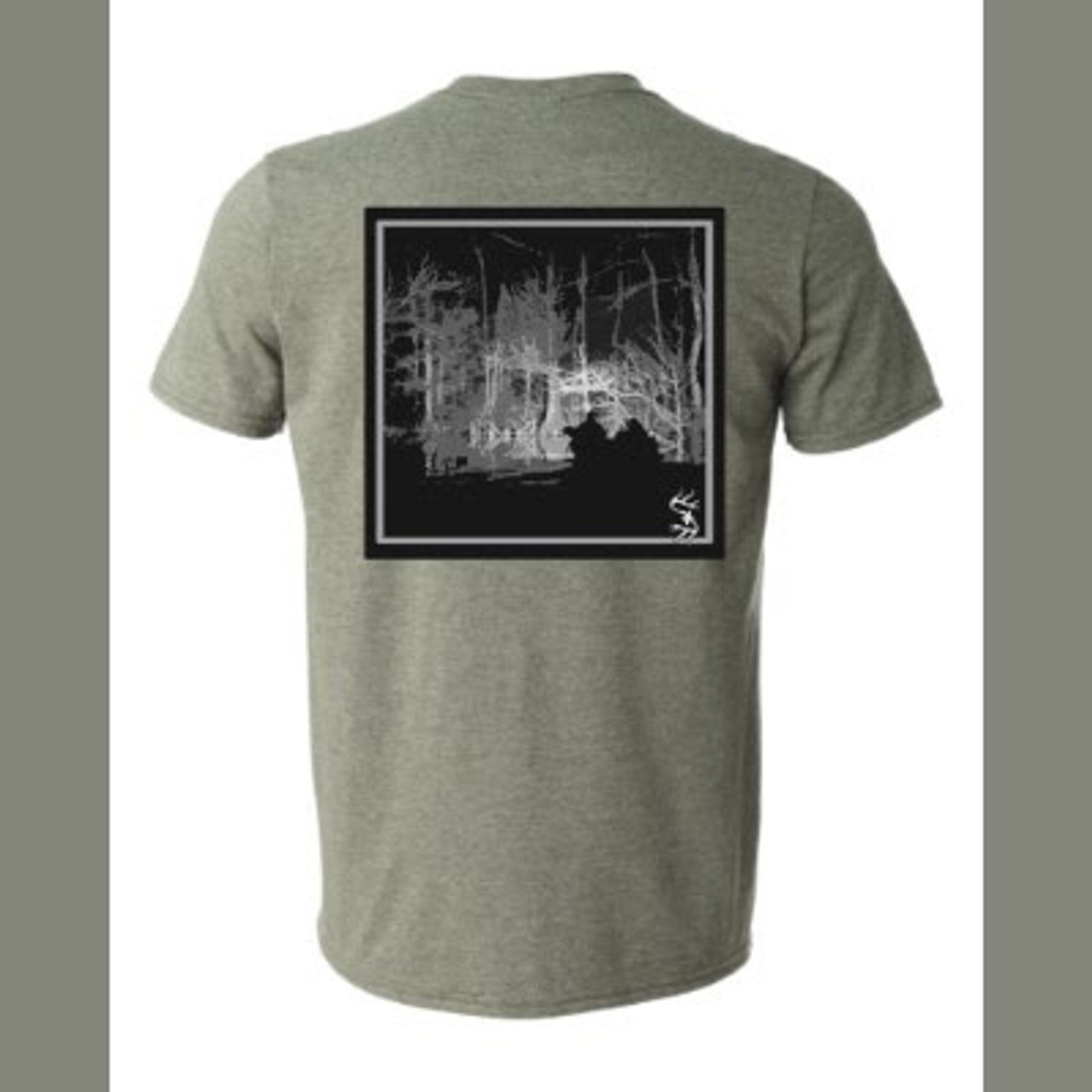 Night Boat Lite Tee (Heather Green, Short Sleeve)