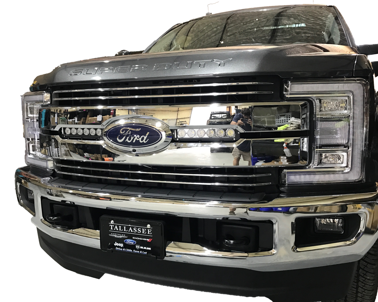 """Double Hidden Grille Mounted 11"""" LED Light Bars"""