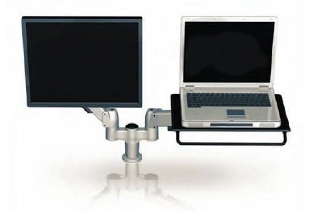 SpaceArm-Dual Monitor Arm Laptop Platform
