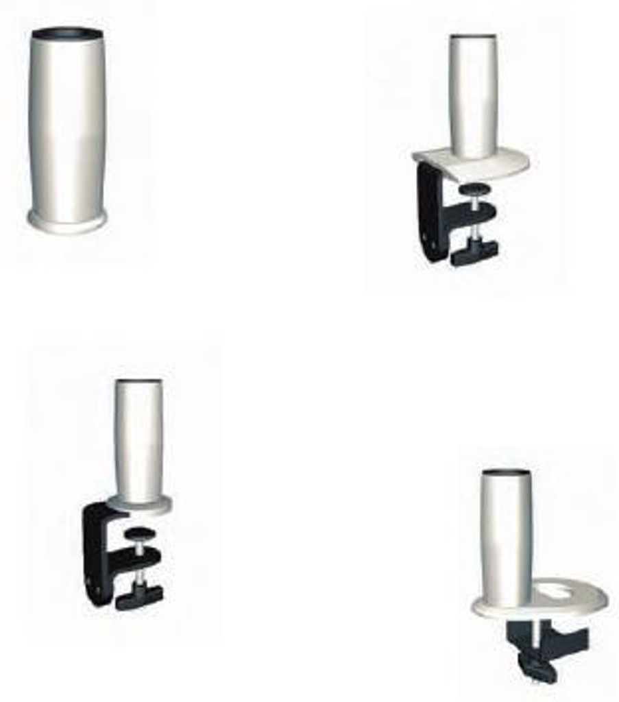 SpaceArm-Dual Monitor Arm Desk Mounting Options (Bolt through, C-clamp, Large C-clamp, Grommet)