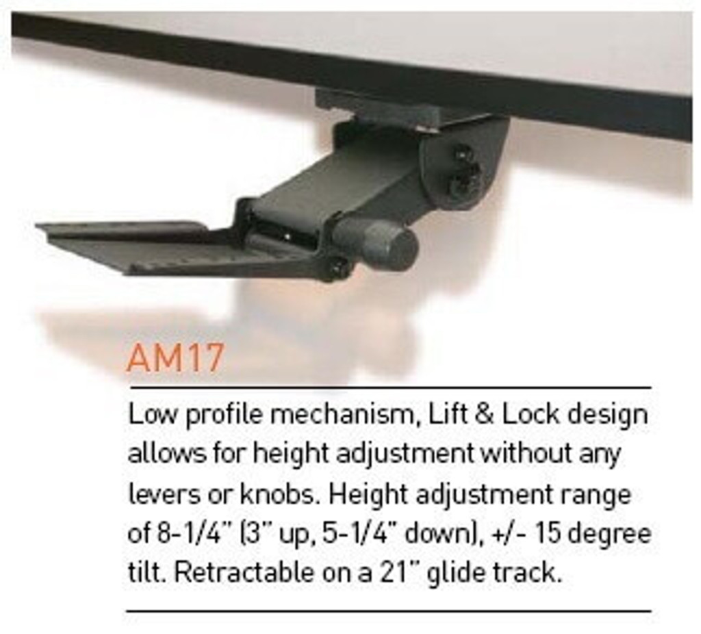 Viking AM17 Lift and Lock Adjustable Keyboard Arm Specifications
