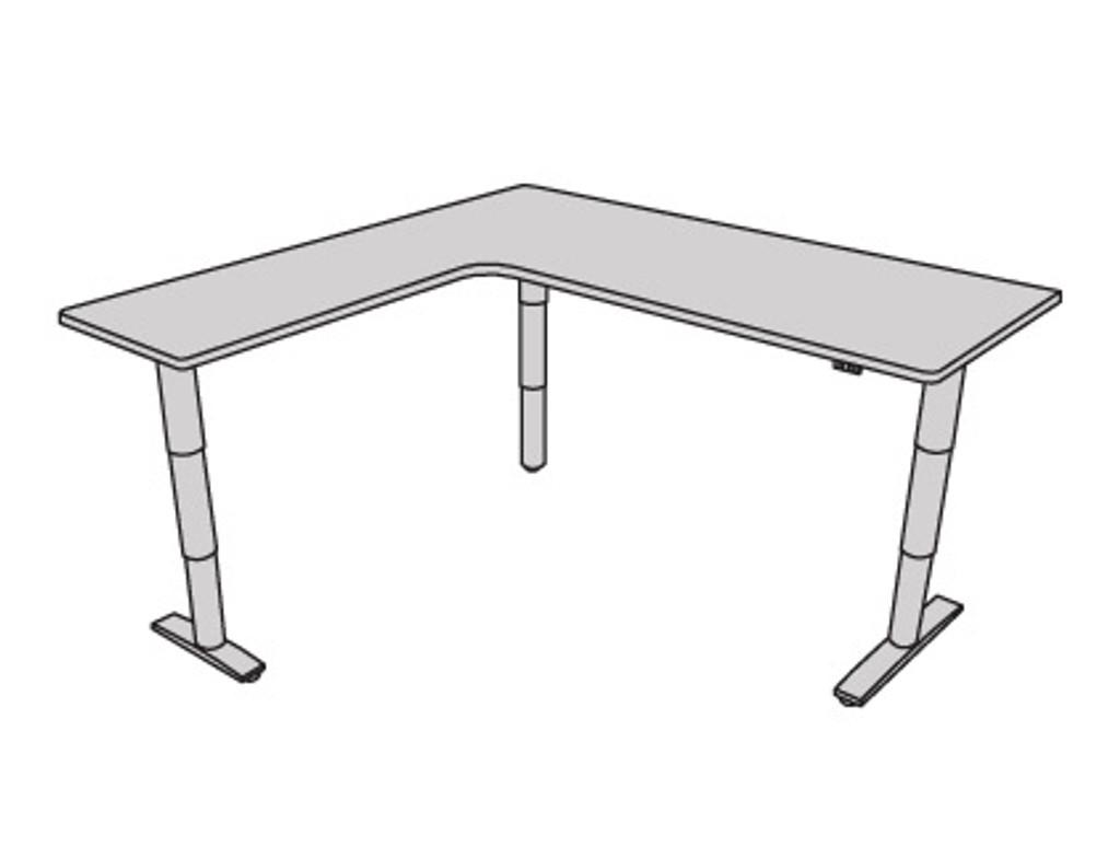 Vox Adjustable L-Shape Desk