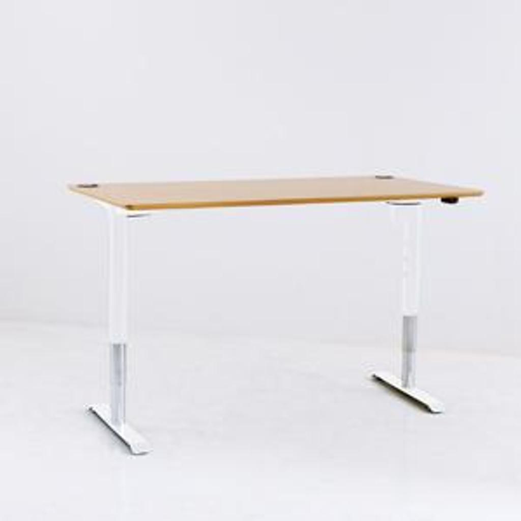 501-49 Electric Height Adjustable 3-Leg Desk (501-49) White