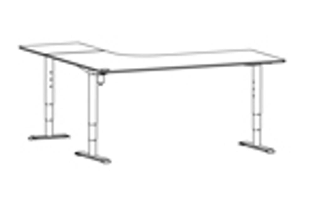 501-49 Electric Height Adjustable 3-Leg Desk