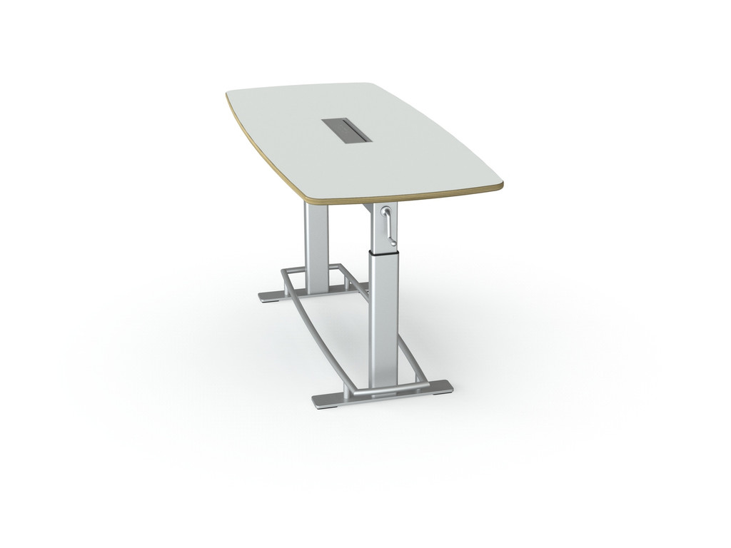Confluence Standing Height Conference Table - Height adjustable meeting table