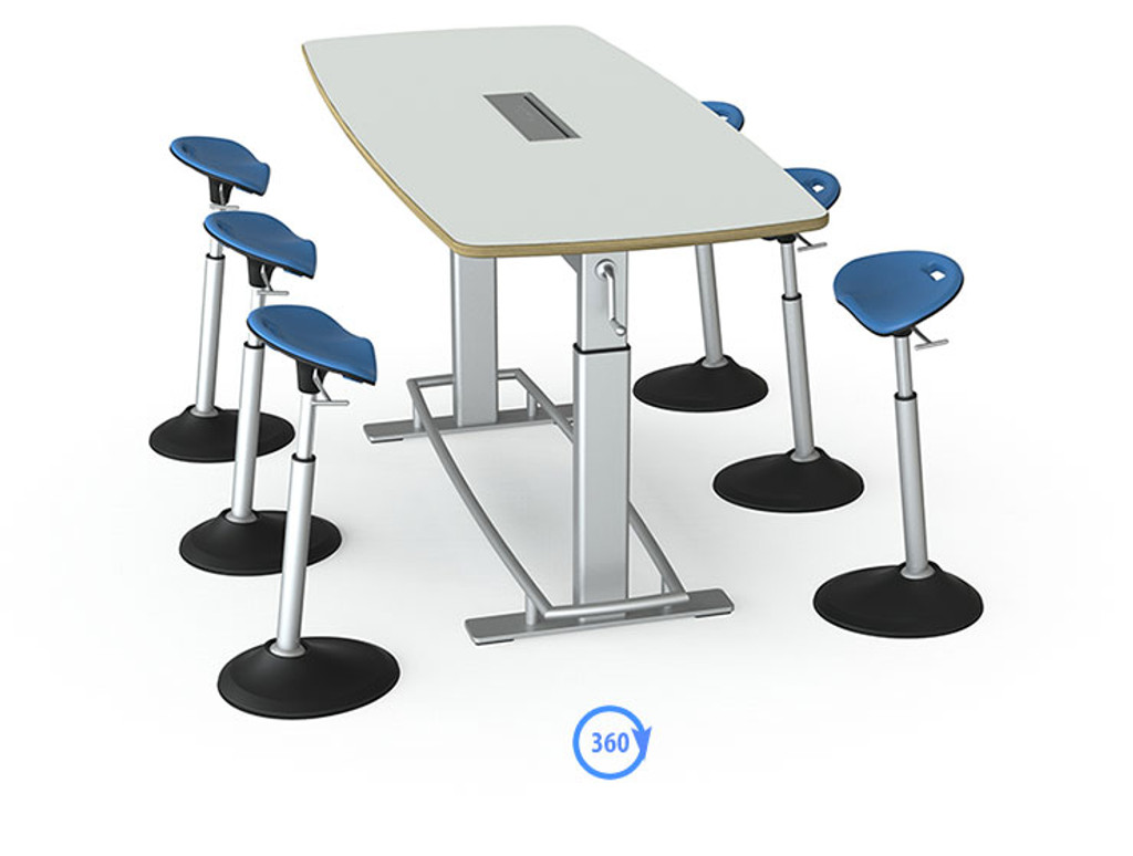 Confluence Standing Height Conference Table FBT - Standing height conference table