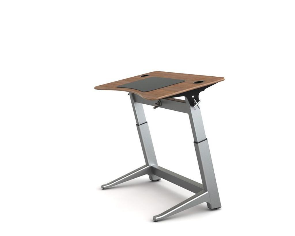 Locus Standing Desk black walnut veneer top