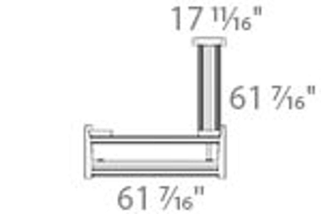 501-11 Electric Height Adjustable 3-Leg Frame Measurements