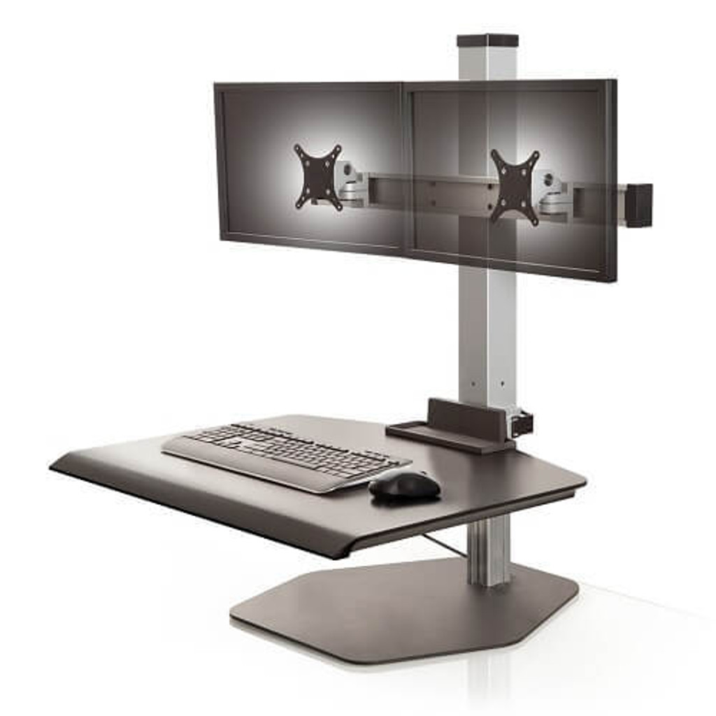 Winston Freestanding Sit-Stand Workstation Dual Monitor