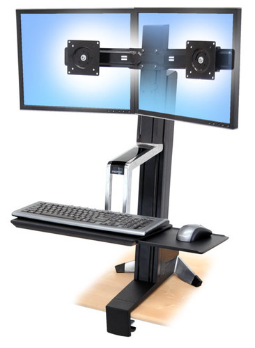 WorkFit-S, Dual LCD Sit-Stand Workstation