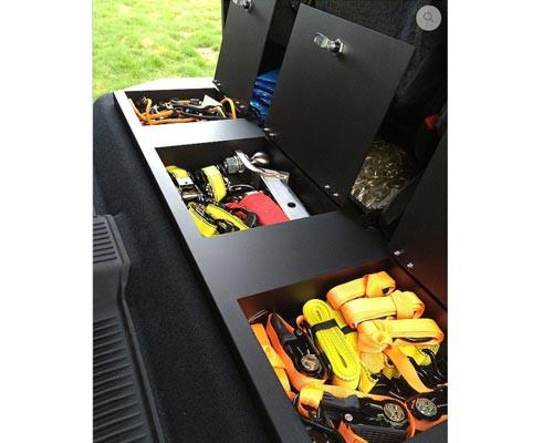 2014-2018 Toyota Tundra Crewmax Aluminum Rear Under Seat Storage Unit