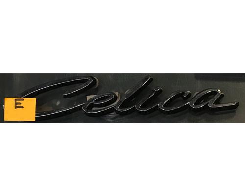 Celica black chrome badge