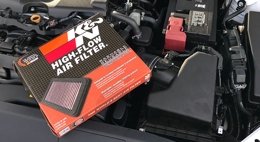 K&N Performance Air Filter install on a 2018 Camry XSE