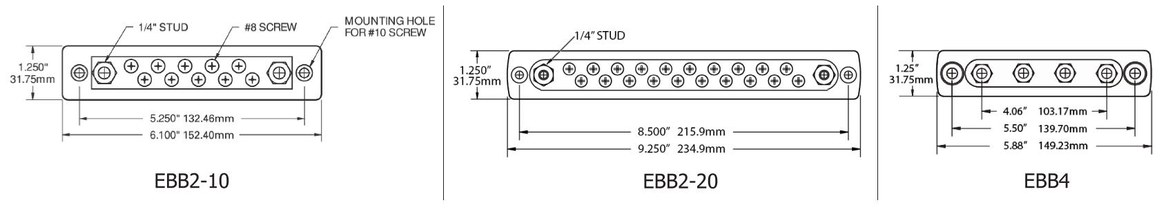 Common Bus Bar, 150 Amp
