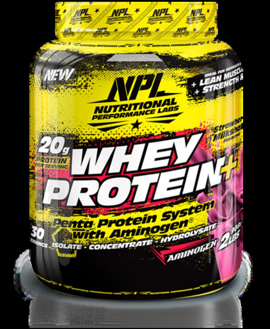 NPL Whey Protein Strawberry Milkshake