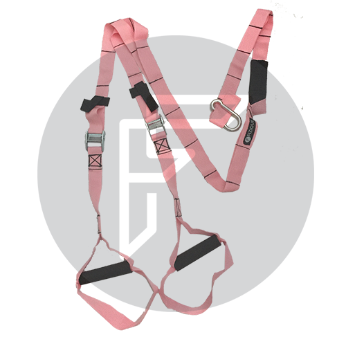 Pink Suspension Trainer, locally manufactured for a total body workout anywhere.